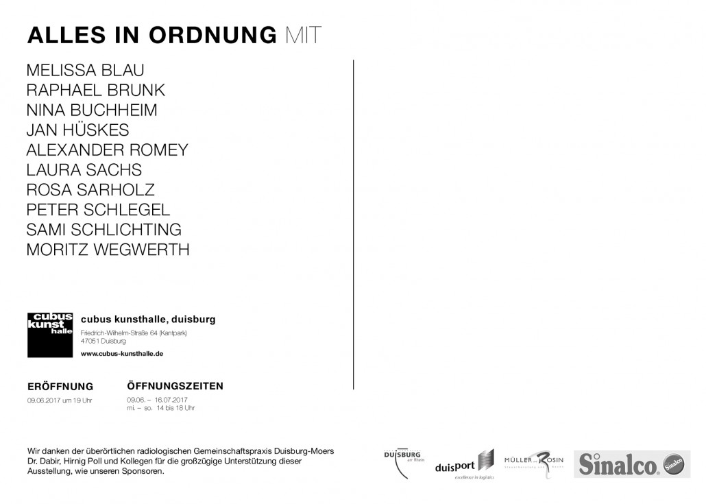 Alles in Ordnung - CUBUS - BACK